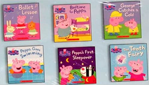Book Peppa Pig Six Book Set :Peppa Pig Ballet Lesson, Bedtime for Peppa, George Catches a Cold, Peppa Goes Swimming Peppa's First Sleepover, The Tooth Fairy