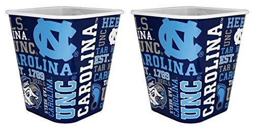 NCAA North Carolina Tar Heels 3 Liter Reusable Plastic Snack Bucket 2 ()