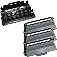 4PK-3 High Yield Toner Cartridges + 1 Drum Unit TN-750 DR-720 Inkfirst® Compatible Remanufactured for Brother TN-750 DR-720 (3 toner + 1 drum) MFC-8510DN MFC-8710DW MFC-8810DW MFC-8910DW MFC-8950DW MFC-8950DWT HL-5440D HL-5450DN HL-5470DW HL-5470DWT