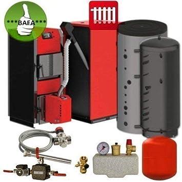 Calderas de Combustible Sólido Set Thermoflux Hkk Active 20- Bioflux 25 Bafa Fördebar Set Acumulador de Calefacción