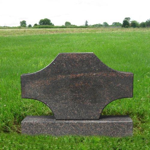Dakota Granite Mahogany (Dakota Mahogany Granite Upright Monument Gravemarker Headstone Gravestone MN-110)