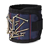 Magnetic Wristband, Nuovoware Adjustable Wrist Strap with Super Strong Magnets and Hook and Loop Closure for Holding Screws, Scissors, DIY Crafts, Small Tools Holder for Men and Women, Midnight Blue