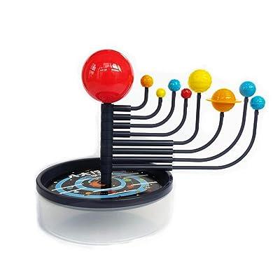 1 juego creativas ocho planetas del Sistema Solar Modelos Puzzle Toy Montaje de juguete Planetario modelo astronómico juguetes para el cabrito adolescente: Bebé