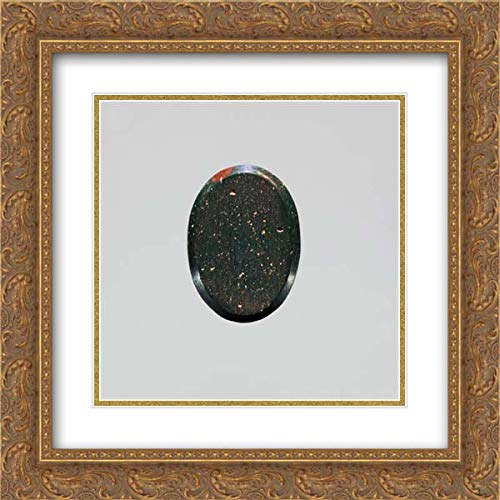 Roman Culture - 20x20 Gold Ornate Frame and Double Matted Museum Art Print - Jasper Intaglio: Harcoprates Seated on a Lotus Flower