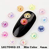 4mm Nail Resin Rhinestone Nail Art Sun Flower Decoration About 1000pcs For DIY Nail Art Decorations