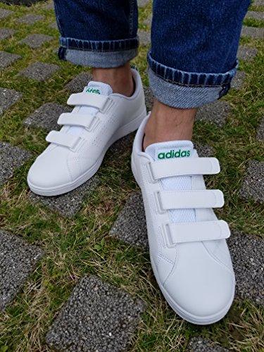 para Vs adidas Blanco Zapatillas hombre Clean Ftwbla Advantage CMF Ftwbla Verde qc7cw1UgFW