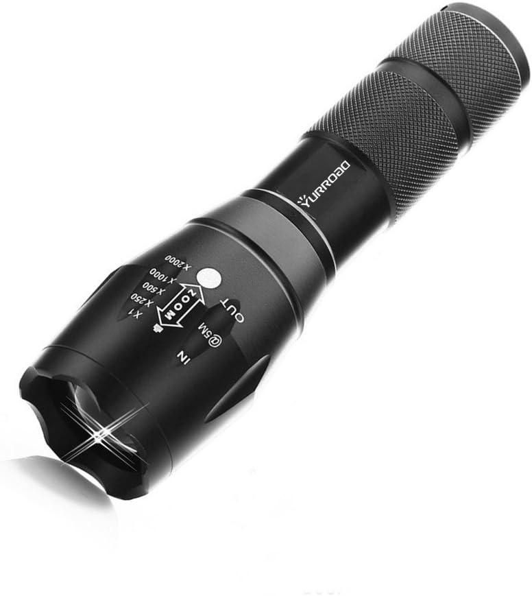 Linterna táctica de LED, de la marca Yurroad, recargable y resistente al agua