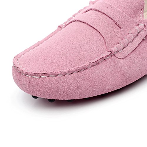 Mocassini Da Donna Generici In Pelle Scamosciata Comfort Sul Tallone Scarpe Rosa