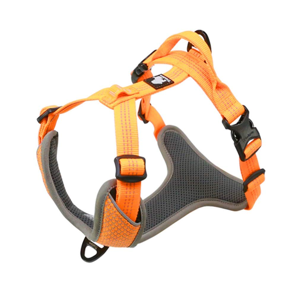 orange XL(82-106cm) orange XL(82-106cm) Dog Vest Harness, Comfortable Breathable Adjustable Pet Chest Strap Traction Rope Chain Hyena For Small Medium Large golden Retriever Safety Harness (color   orange, Size   XL(82-106cm))
