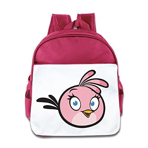 Hello-Robott Little Pink Bird School Bag Backpack Pink