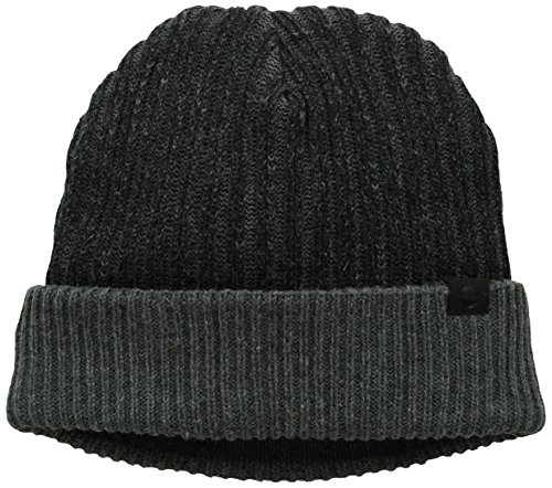 Timberland Men's Pleated Watch Cap with Ribbed Cuff, Black, One Size