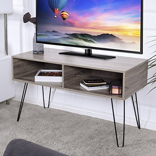 Tangkula 42″ TV Stand Home Retro W/Metal Hairpin Legs Media Console 512y1jarJ7L