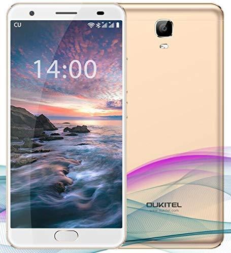 OUKITEL OK6000 Plus Unlocked Smartphones, 5.5 '' FHD MT6750T Octa-Core, 4GB RAM 64GB ROM Unlocked Cell Phones, 16MP Cameras, 6080mAh Big Battery, Dual Sim, Fingerprint Recognization-Gold