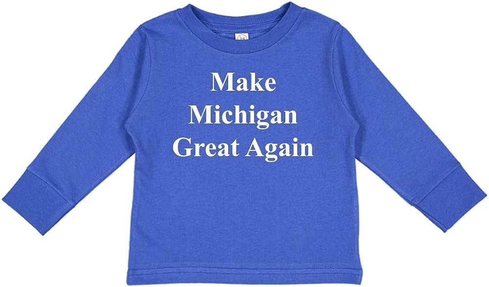 Mashed Clothing Make Michigan Great Again MAGA Trump Republican Toddler//Kids Long Sleeve T-Shirt