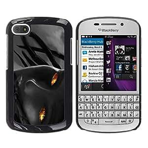 Be Good Phone Accessory // Dura Cáscara cubierta Protectora Caso Carcasa Funda de Protección para BlackBerry Q10 // Flame Girl