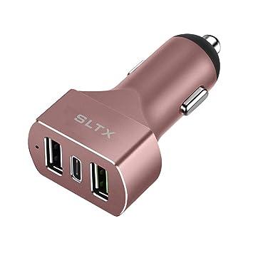 SLTX - Cargador de Coche con 3 Puertos USB y Carga rápida PD ...