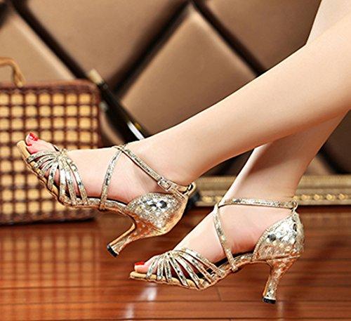 TDA - Zapatos con tacón mujer 7.5cm Gold
