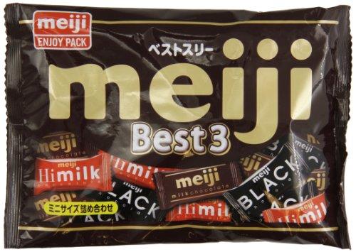 Meiji Best Three Chocolate Bag, 6.73 Ounce