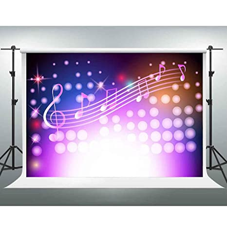 Amazon com: GESEN Music Backdrop 10x7ft Shiny Colorful Music