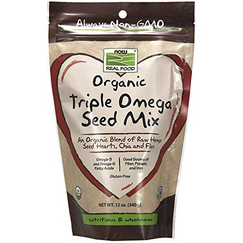 NOW Organic Triple Omega Seed Mix, 12-Ounce (Source Of Omega 3 In Vegetarian Diet)