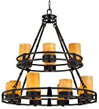 Sunset Onyx Stone 12-Light Faux Candle Chandelier