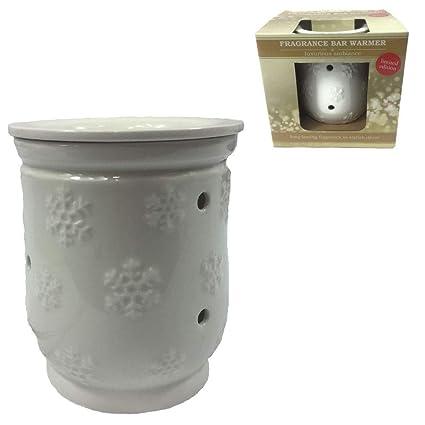 Ceramic Electric Wax Melt Oil Warmer Free Ship! White Snowflake