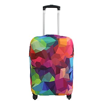 Sulida® Housse de valise bagage en tissu Élastique Bagages Couverture Imprimé Valise Couverture Protecteur housse de bagage a2qPNIKkN6