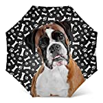 Design Dog Paws Umbrella With Funny Boxer Dog Pattern Print - Windproof Travel Folding Umbrella Golf Umbrella - Great Dog Mom Gifts