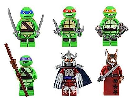 Amazon.com: 6 x Teenage Mutant Ninja Turtles Minifigure Set ...