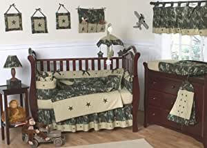 Amazon.com : Green and Brown Camo Camouflage Military Baby ...