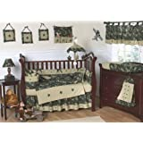 Green and Brown Camo Camouflage Military Baby Boy Bedding 9pc Crib Set