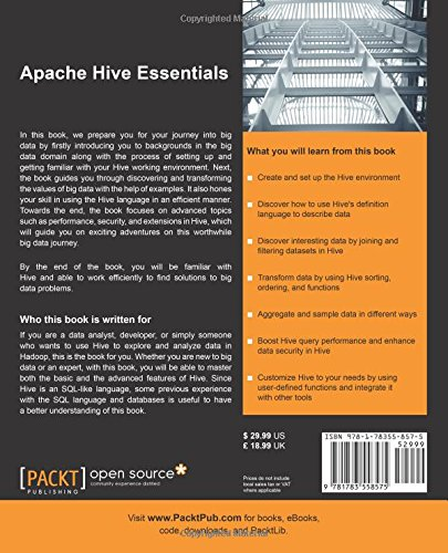 Amazon com: Apache Hive Essentials (9781783558575): Dayong