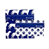 Lunchskins MP-DOG-NAV Reusable Dog Sandwich & Snack Bag Set, Navy
