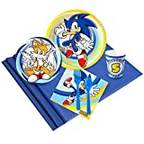 BirthdayExpress Sonic The Hedgehog Party Tableware Pack for 24 Guests