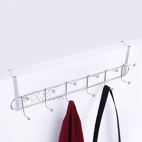 Amazoncom Nail Free Behind Door Clothes Hanger Iron Over