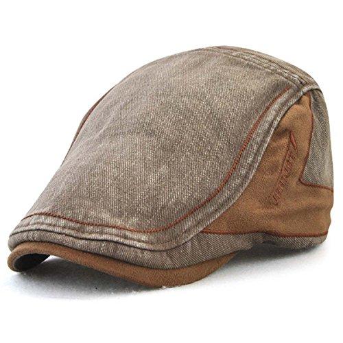 XRDSS Men's Cotton Flat Cap Ivy Gatsby Newsboy Driving Hunting Hat ()