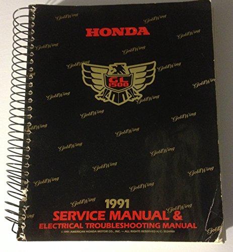 (1991 Honda GL1500 Goldwing Service Manual & ETM)