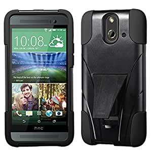 MyBat Inverse Advanced Armor Stand Protector Cover for HTC One E8 - Retail Packaging - Black