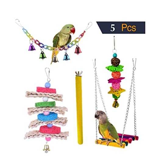 PL Juguetes for Pájaros Colorful Columpio for Loros Accesorios ...