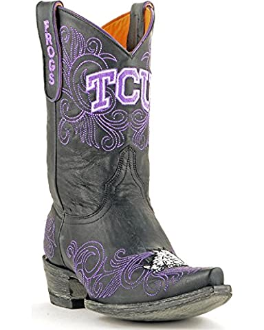 NCAA TCU Horned Frogs Women's 10-Inch Gameday Boots, Black, 9.5 B (M) US (University Of Texas Boots)