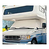 Mofeez RV Class C Ford 1997-2008 Windshield Cover (RV Motorhome with Mirror Cutouts) with Storage Bag