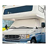 Mofeez RV Class C Ford 1997-2018 Windshield Cover (RV Motorhome with Mirror Cutouts)