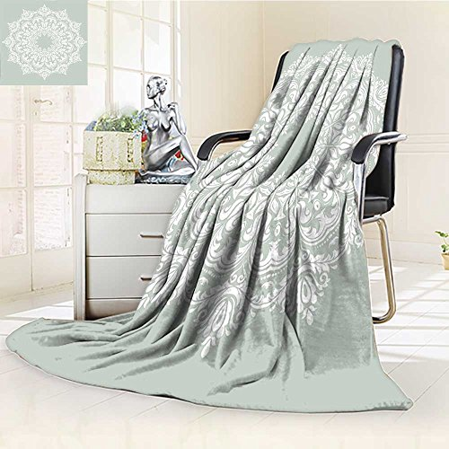 AmaPark Digital Printing Blanket Oriental with and Elements Classical Islamic Art Motifs Green White Summer Quilt Comforter by AmaPark