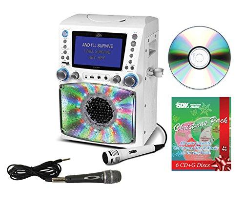 Singing Machine STVG785W CDG/MP3G Karaoke System with Christmas Pack & 2 Mics Bundle -  Ace Karaoke, HSMGPK0001
