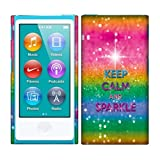 Apple iPod Nano 7 (7th Generation) Case, Fincibo (TM) Back Cover Hard Plastic Protector, Keep Calm And Sparkle