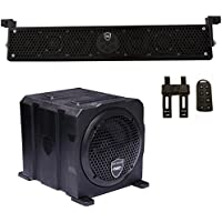 Wet Sounds Package - Black Stealth 6 Ultra HD Sound Bar w/ Remote and AS-6 6 250 Watt Powered Stealth Subwoofer