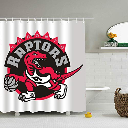 Qilrocm Shower Curtain Toronto Tyrannosaurus Rex Print Mom Gift Ideas Polyester Fabric Hooks Included 71 × 78