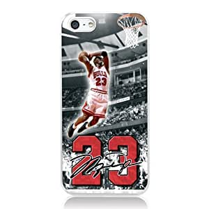 NBA Great Legendary Basketball Star Michael Jordan for iphone 5 5s Case Cover phone Plastic Transparent hard shell cover Nice packaging By LINDAS