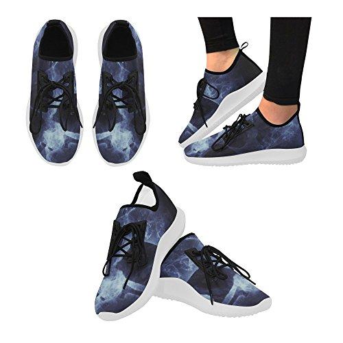 InterestPrint Custom Dolphin Ultra Light Running Shoes for Women Clown W1UA4