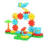 Hailey&Elijah Gears Building Set Educational Construction Building Blocks & Gears Toys for Kids Boost Creativity Imagination & Logical Skills